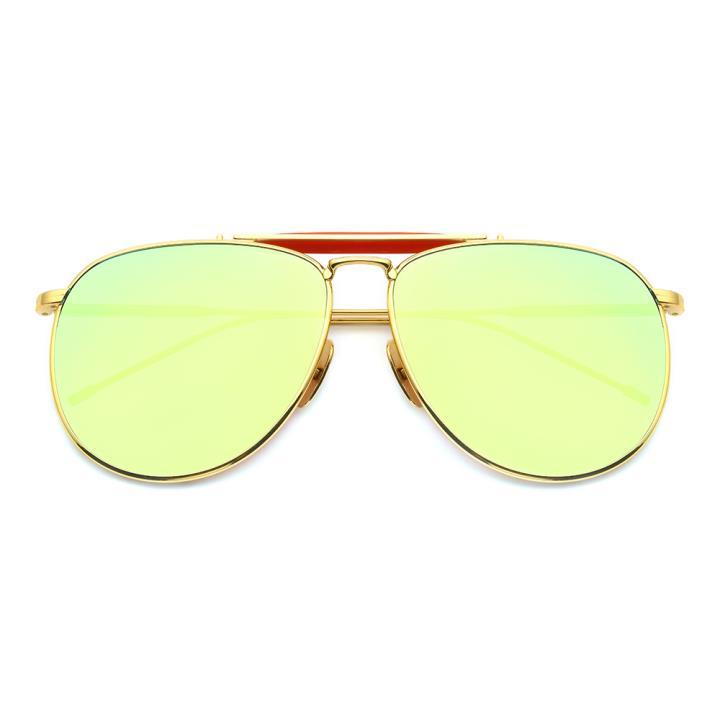 HAN白铜不锈钢防紫外线太阳镜-金框金片(HD59121-S18)