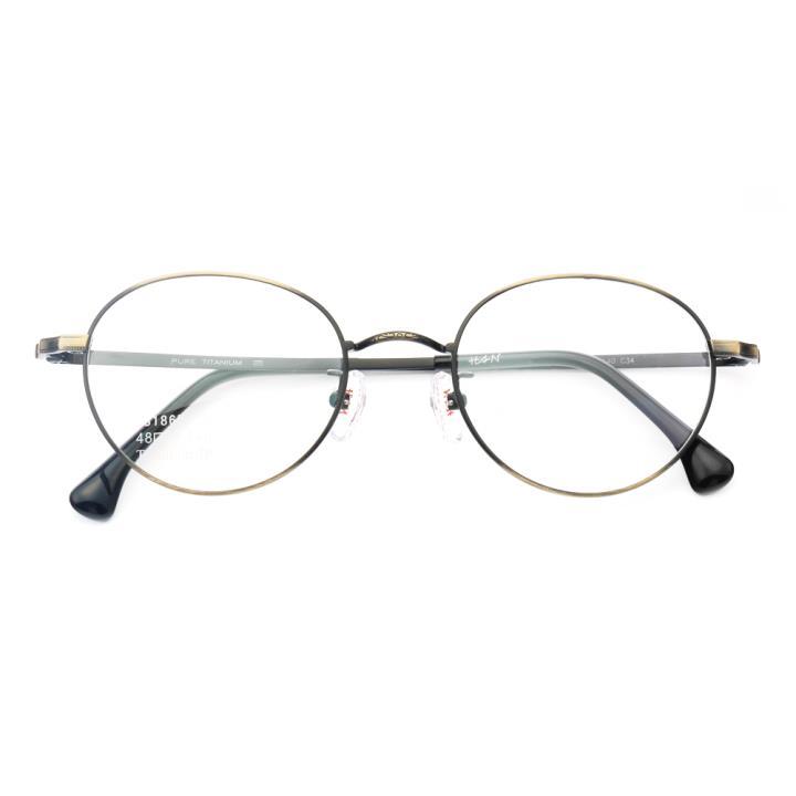 HAN纯钛光学眼镜架-铜色(J81865-C34)