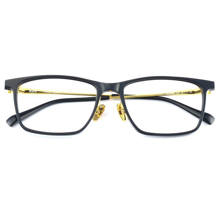HAN 板材金属光学眼镜架-深蓝(HD49304-F07)
