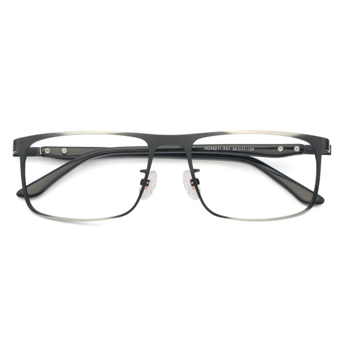 HAN 不锈钢板材光学眼镜架-复古哑黑(HD49211-F01)