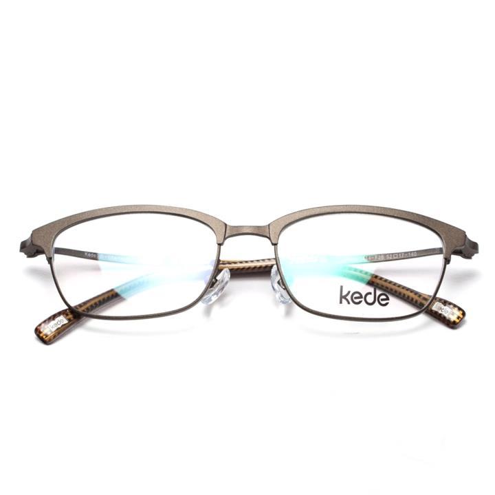 Kede时尚光学眼镜架Ke1414-F26 墨绿色