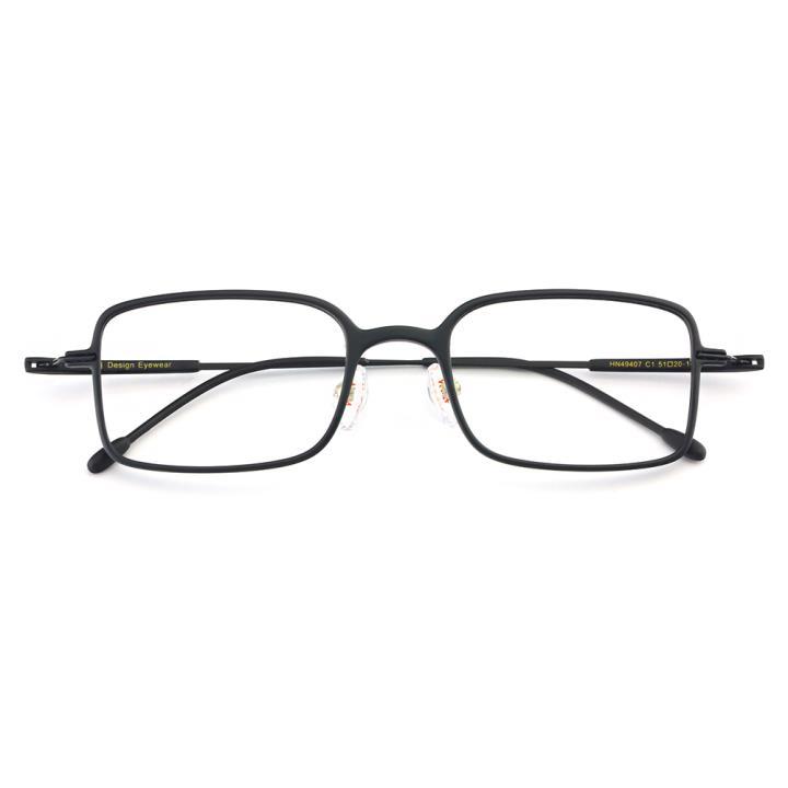 HAN TR金属光学眼镜架-经典纯黑(HN49407-C1)