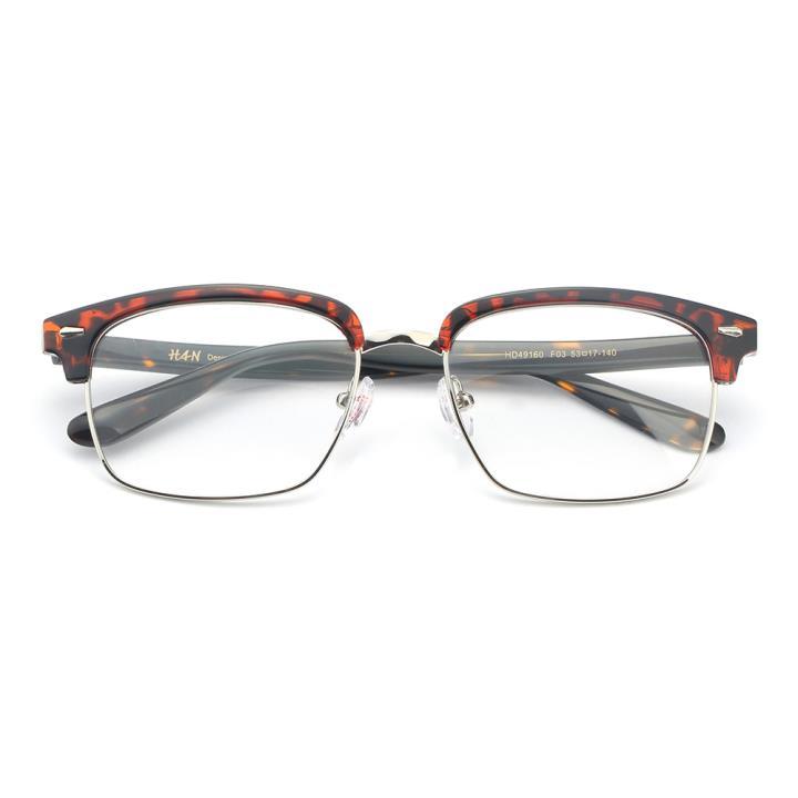 HAN板材金属光学眼镜架-时尚玳瑁(HD49160-F03)