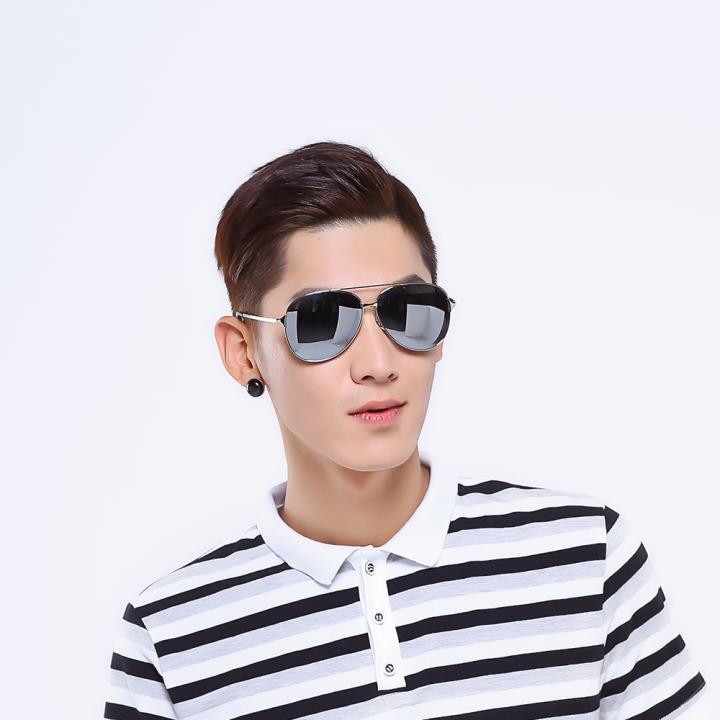 HAN时尚偏光太阳镜HD59312-S09炫酷水银