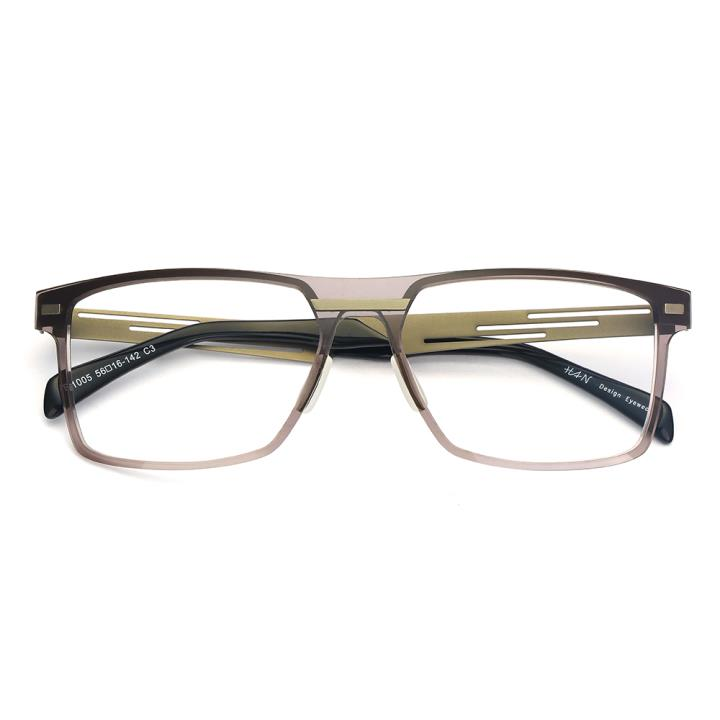HAN尼龙不锈钢光学眼镜架-低调枪灰(B1005-C3)