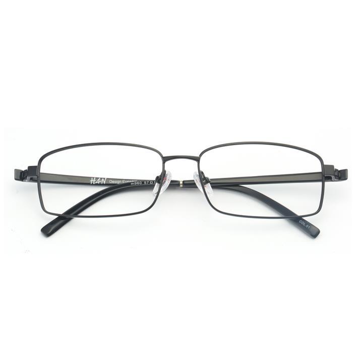 HAN不锈钢TR光学架-经典哑黑(M960-C01)