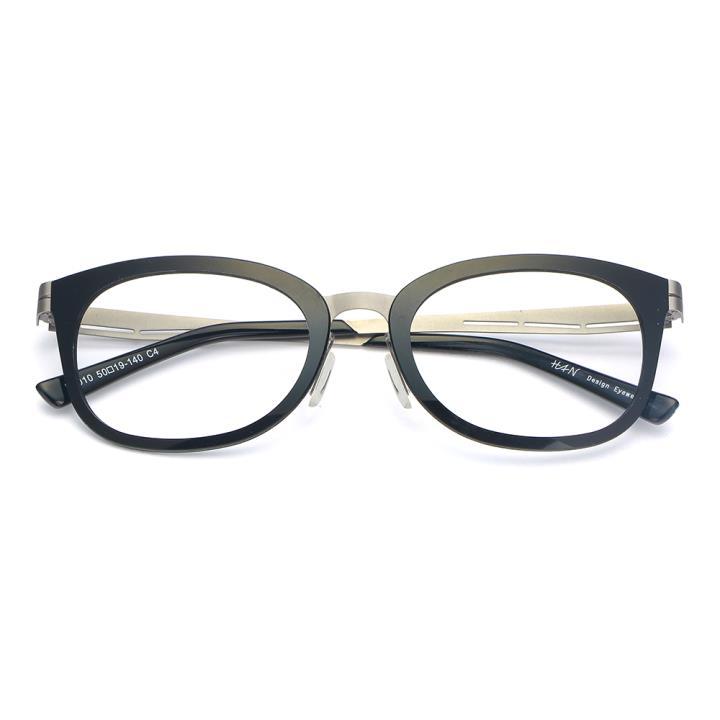 HAN尼龙不锈钢光学眼镜架-经典纯黑(B1010-C4)