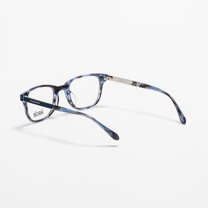 Kede时尚光学眼镜架Ke1442-F07  蓝黑色