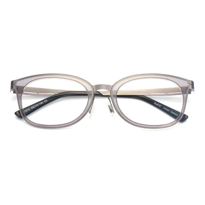 HAN尼龙不锈钢光学眼镜架-低调枪灰(B1010-C3)