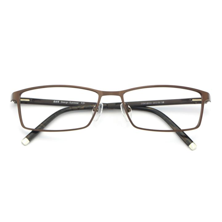 HAN金属TR光学眼镜架-咖啡色(602-F21)