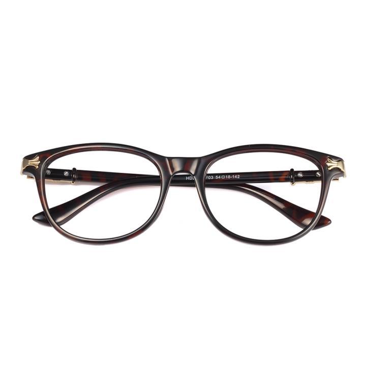 HAN克罗心MEGA-TR钛塑近视眼镜架-玳瑁色(HD2904-F03)
