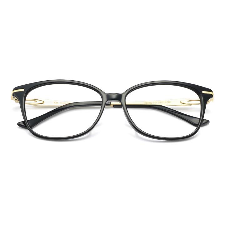 HAN板材金属光学眼镜架-时尚亮黑(HD4952-F01)