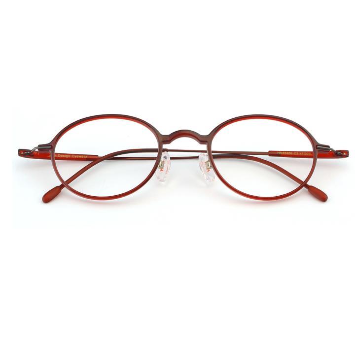 HAN TR金属光学眼镜架-时尚酒红(HN49406-C3)