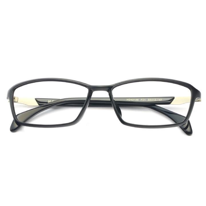 HAN MEGA-TR钛塑板材光学眼镜架-经典亮黑(HD49156-F01)