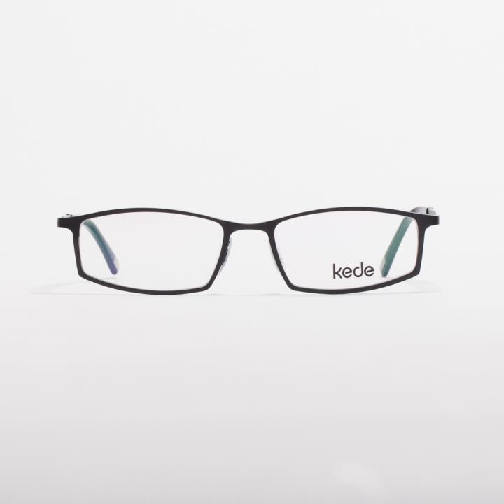 Kede时尚光学眼镜架Ke1422-F01  亮黑