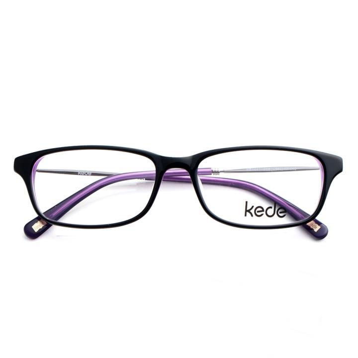 Kede时尚光学眼镜架Ke1441-F08  黑紫色