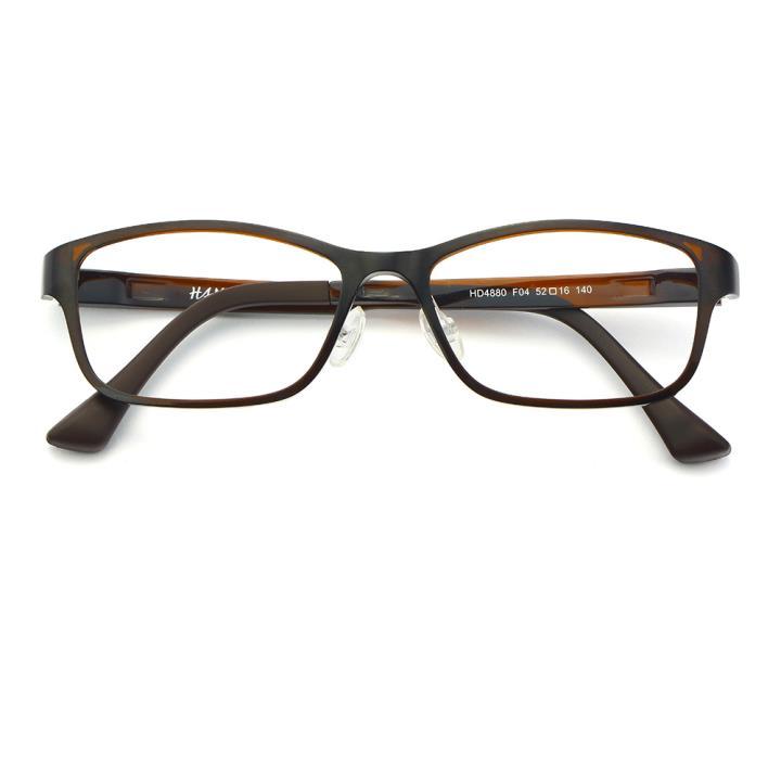 HAN塑钢时尚光学眼镜架-优雅亮棕(HD4880-F04)