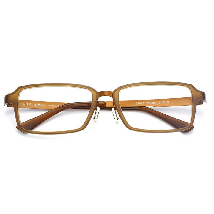 HAN尼龙不锈钢光学眼镜架-典雅茶色(B1012-C13)