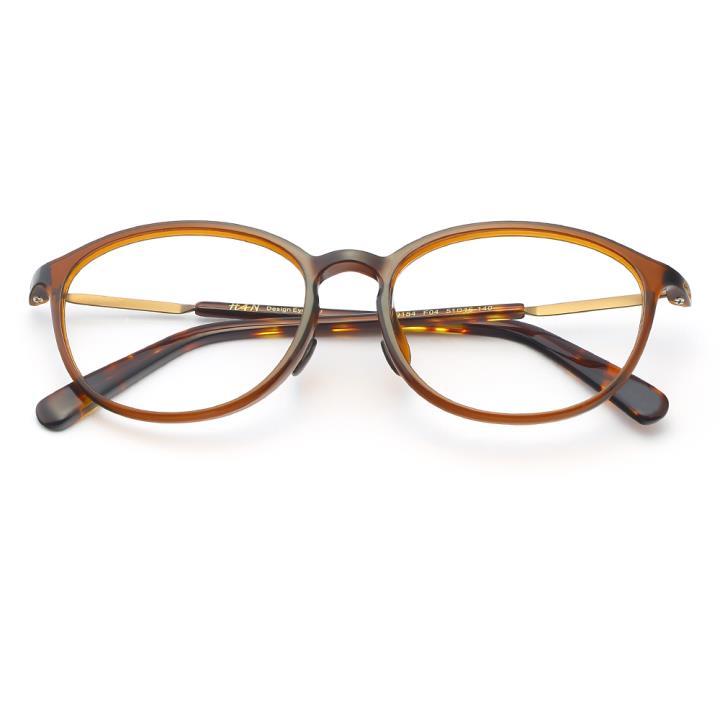 HAN TR板材光学眼镜架-优雅亮棕(HD49154-F04)