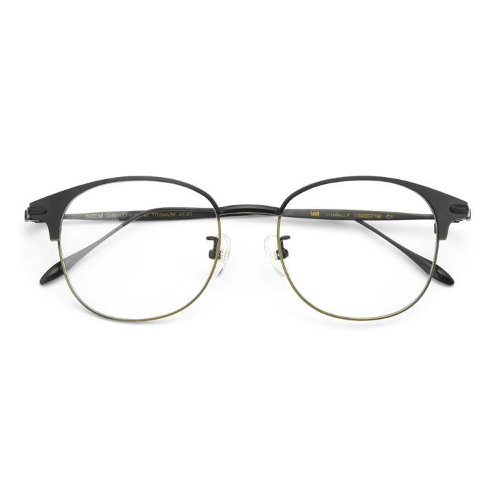 HAN TITANIUM 贝钛光学眼镜架-黑铜(HN42071M C1)