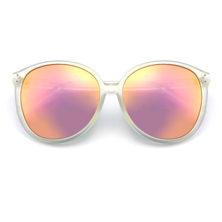 HAN时尚防紫外线太阳镜HD59315-S13 透明框粉色片