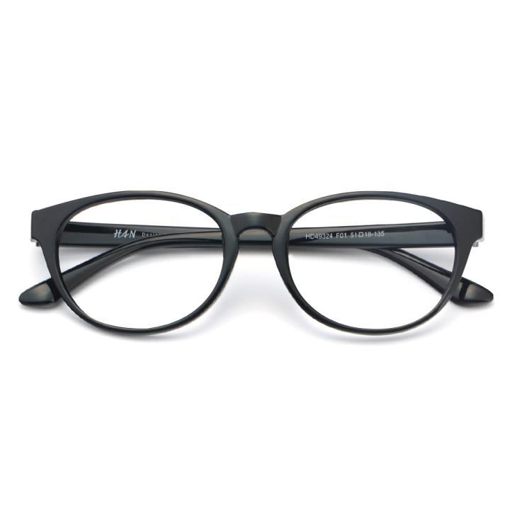 HAN MEGA-TR钛塑光学眼镜架-经典亮黑(HD49324-F01)
