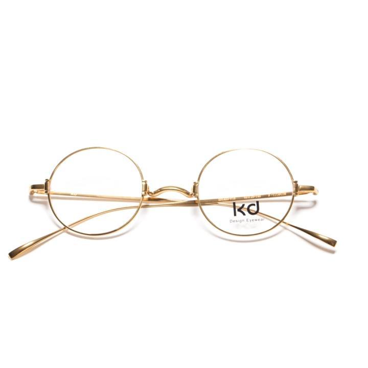 KD复古光学眼镜KD1433-F18  金色
