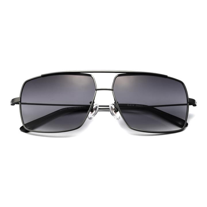 HAN不锈钢防紫外线太阳镜-枪框渐近灰色片(HD5905-S01)