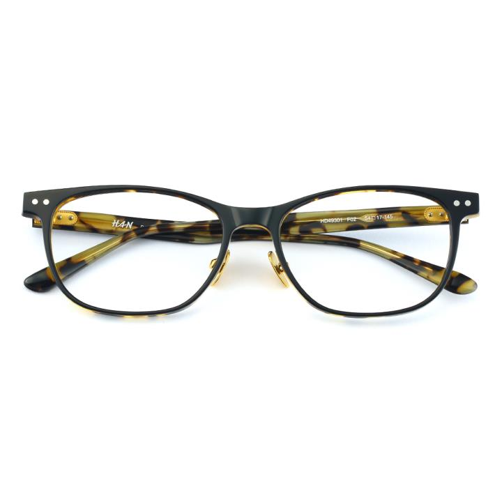 HAN板材光学眼镜架-酷黑玳瑁(HD49301-F02)