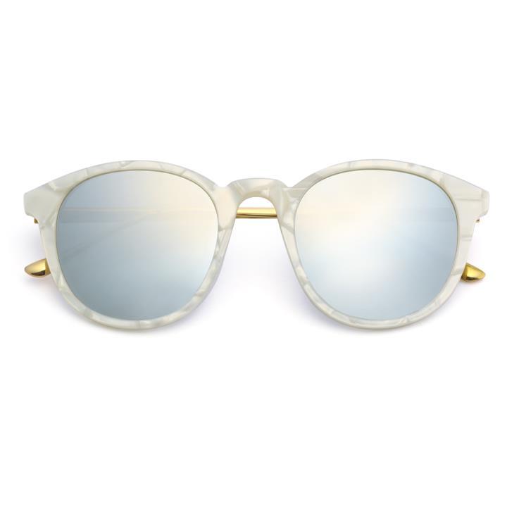 HAN RAZR-X9板材防UV太阳眼镜-白框白水银(HN61004 C02/S)