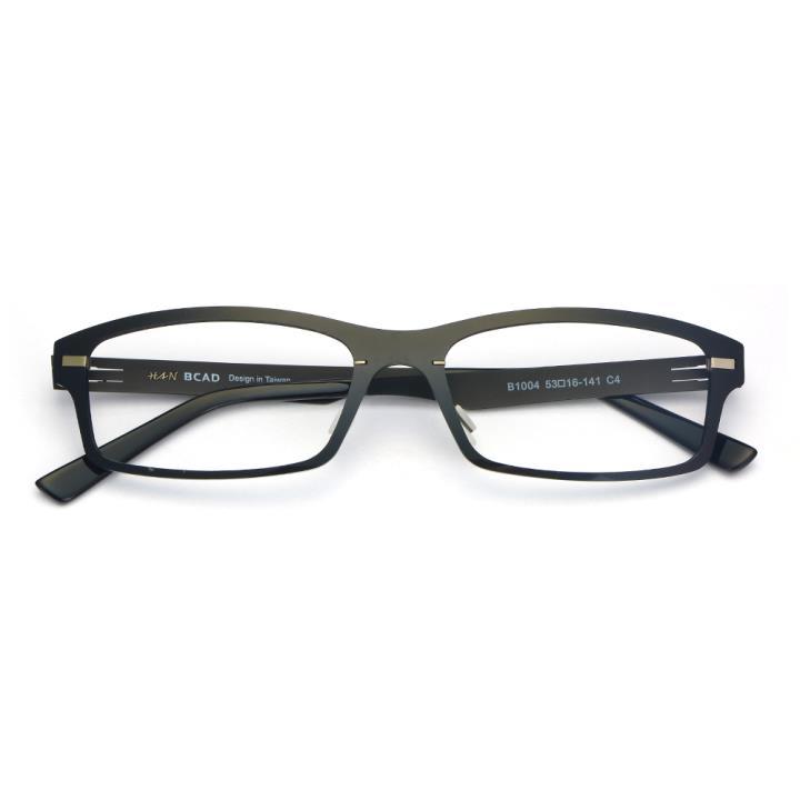 HAN尼龙不锈钢光学眼镜架-经典纯黑(B1004-C4)