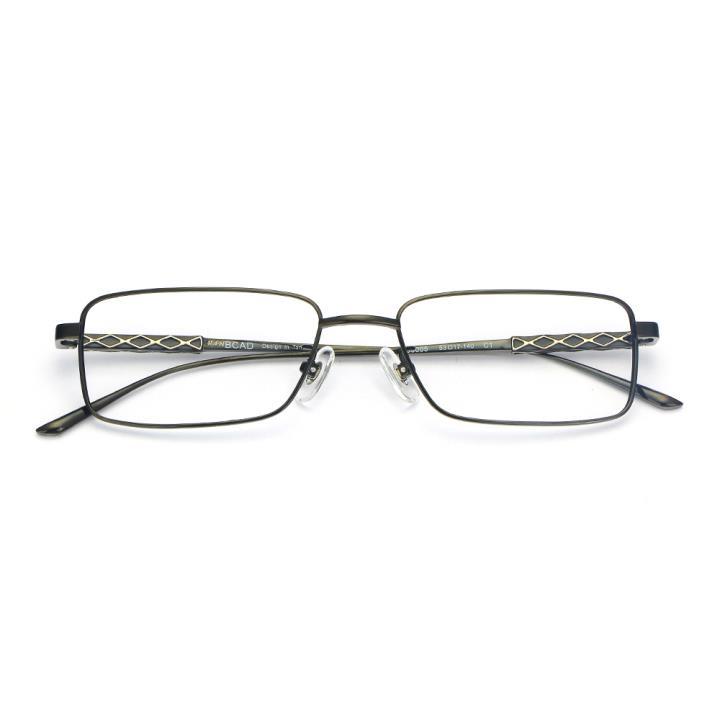 HAN纯钛光学眼镜架-亮黑色(B8005-C1)