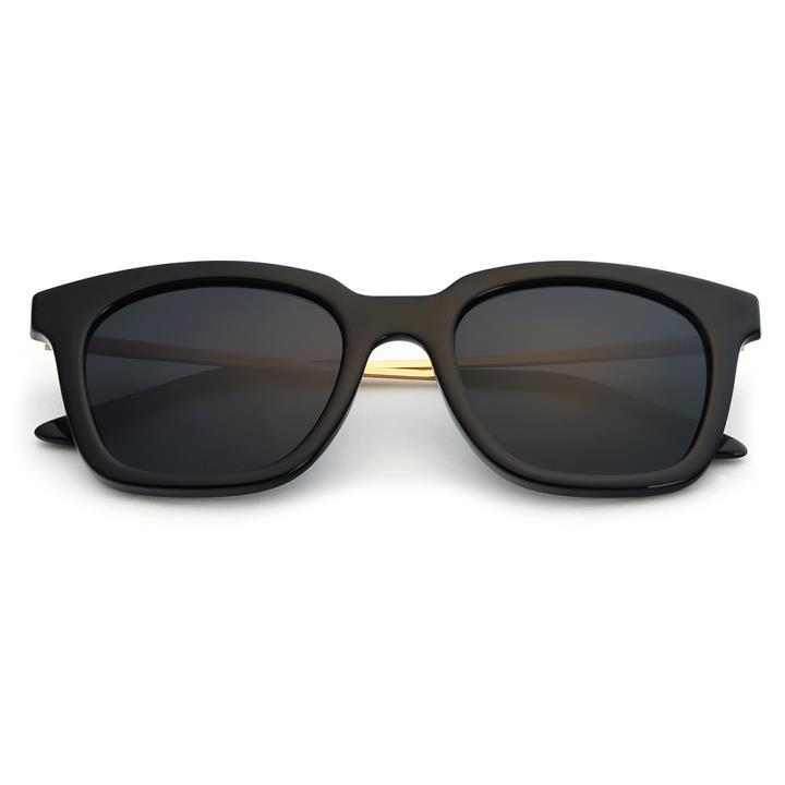 HAN时尚偏光太阳镜HD5806-S01 黑框黑灰片