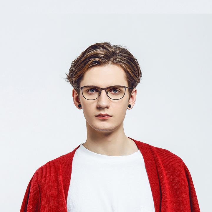 HAN純鈦光學眼鏡架HD49112-F01經典純黑