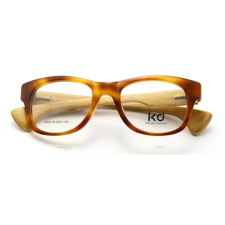 KD设计师手制板材木质眼镜5002 棕色