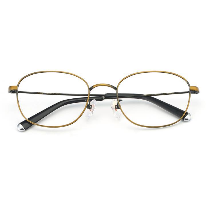 HAN合金光学眼镜架-咖金色(HN49365-C02)