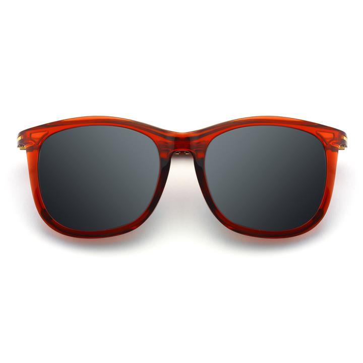 HAN时尚偏光太阳镜-红框黑灰片(HD5836-S06)