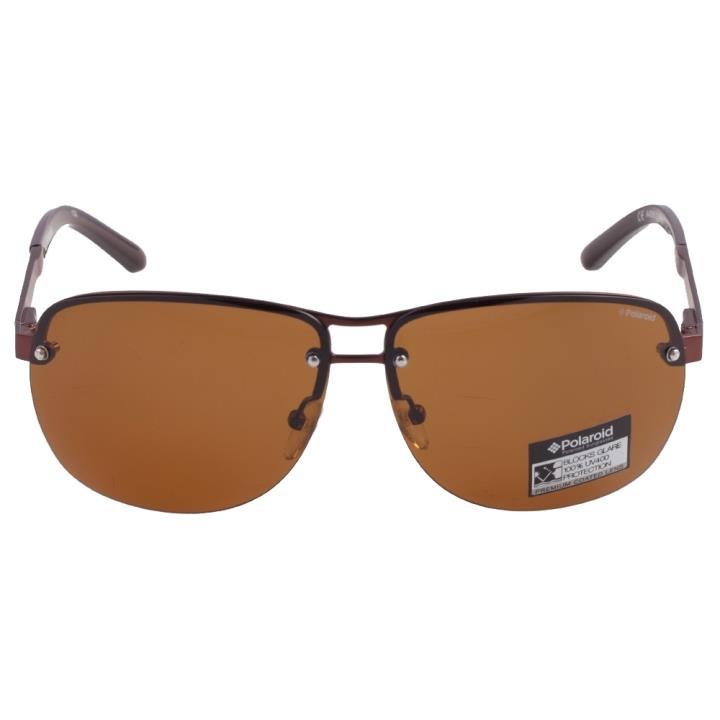 Polaroid宝丽来时尚金属偏光太阳眼镜A4306-D 棕色
