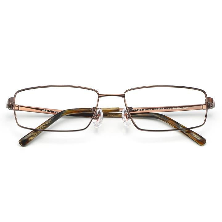 HAN 纯钛板材光学镜架-亮棕色(HD49119-F04)
