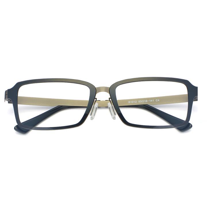 HAN尼龙不锈钢光学眼镜架-经典纯黑(B1012-C4 )