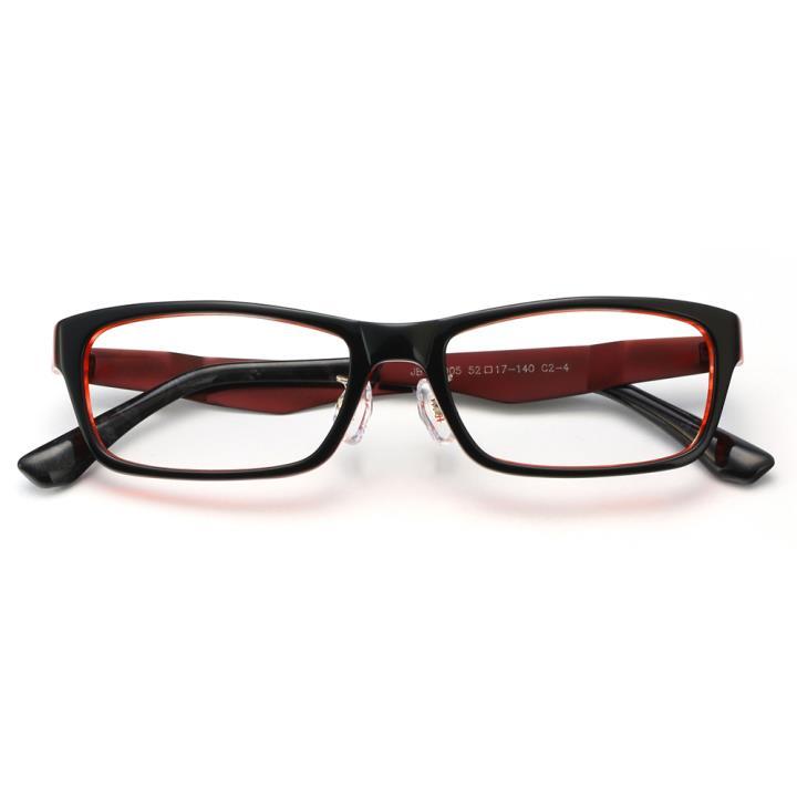 HAN板材金属光学眼镜架-时尚酒红(JBC5005-C2-4)