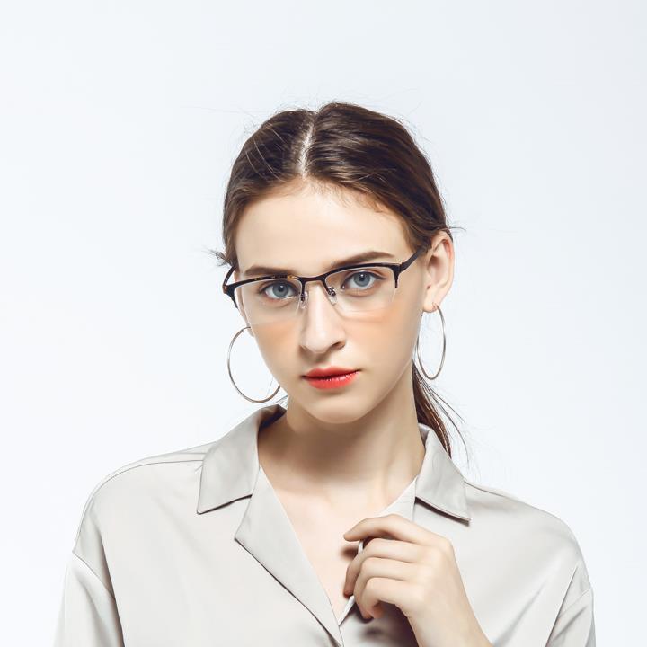 HAN 不锈钢板材光学眼镜架-玳瑁色(HD49210-F03)