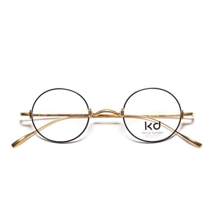 KD复古光学眼镜KD1433-F01  亮黑