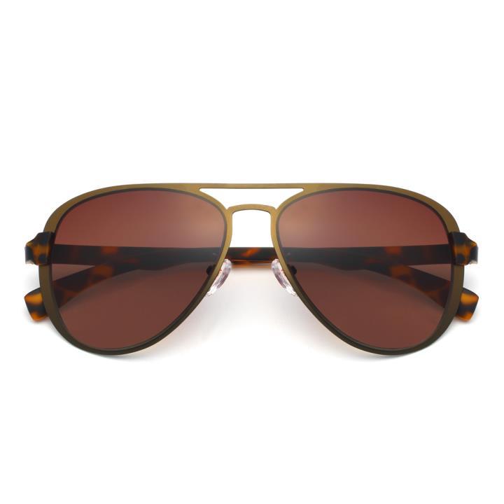 HAN不锈钢尼龙防紫外线太阳镜- 棕框棕片(HD59114-S04)