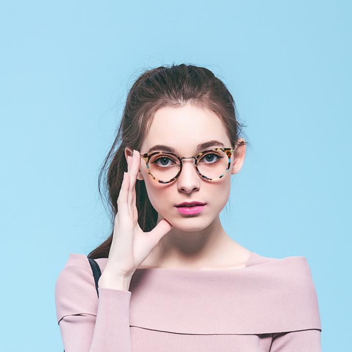 kede光学眼镜架ke42037M C3 茶花