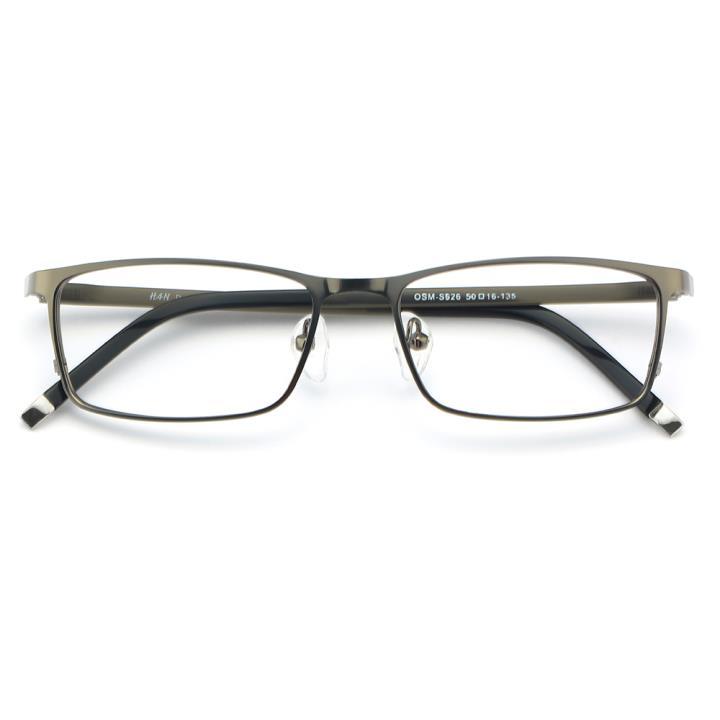 HAN 金属光学眼镜架-亮枪色(626-F16)