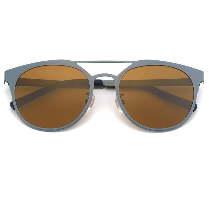 HAN不锈钢偏光太阳镜-灰框棕(HD59320-C2)