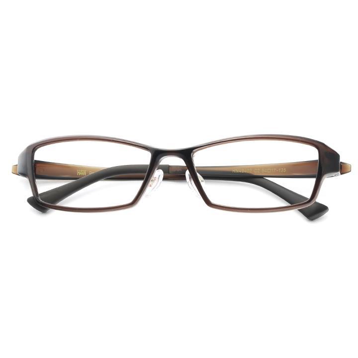 HAN 塑钢光学眼镜架-复古深棕(HN49402-C2)