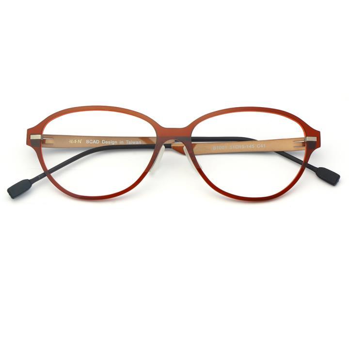 HAN尼龙不锈钢光学眼镜架-绚丽酒红(B1001-C41)