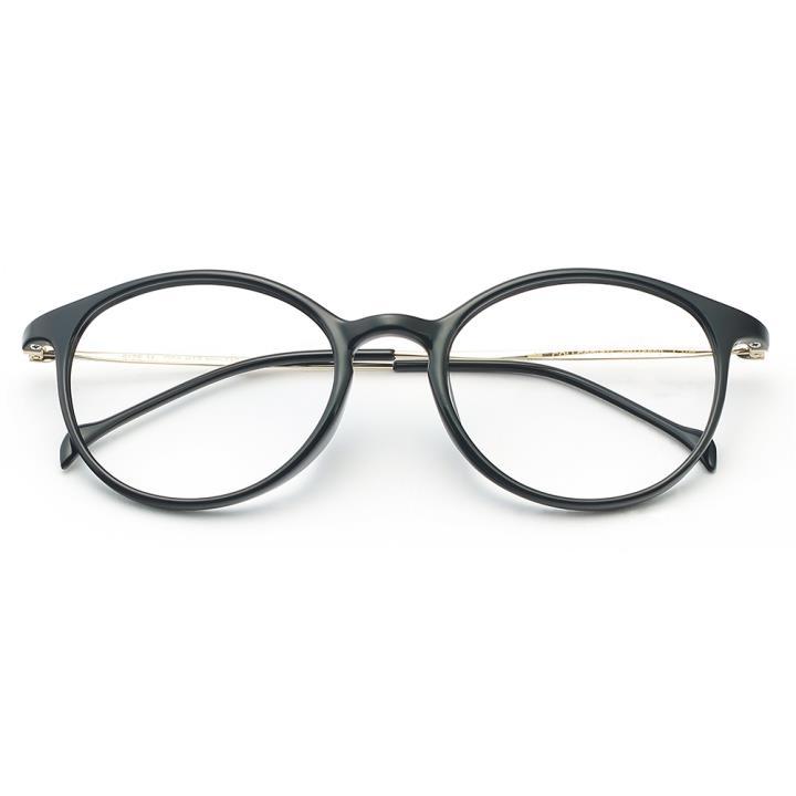 HAN COLLECTION TR钛塑光学眼镜架-亮黑色(HN43002 C1)